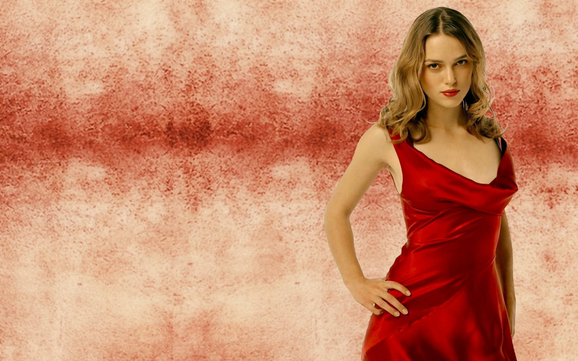 Celebrity - Keira Knightley  Night Red Wallpaper