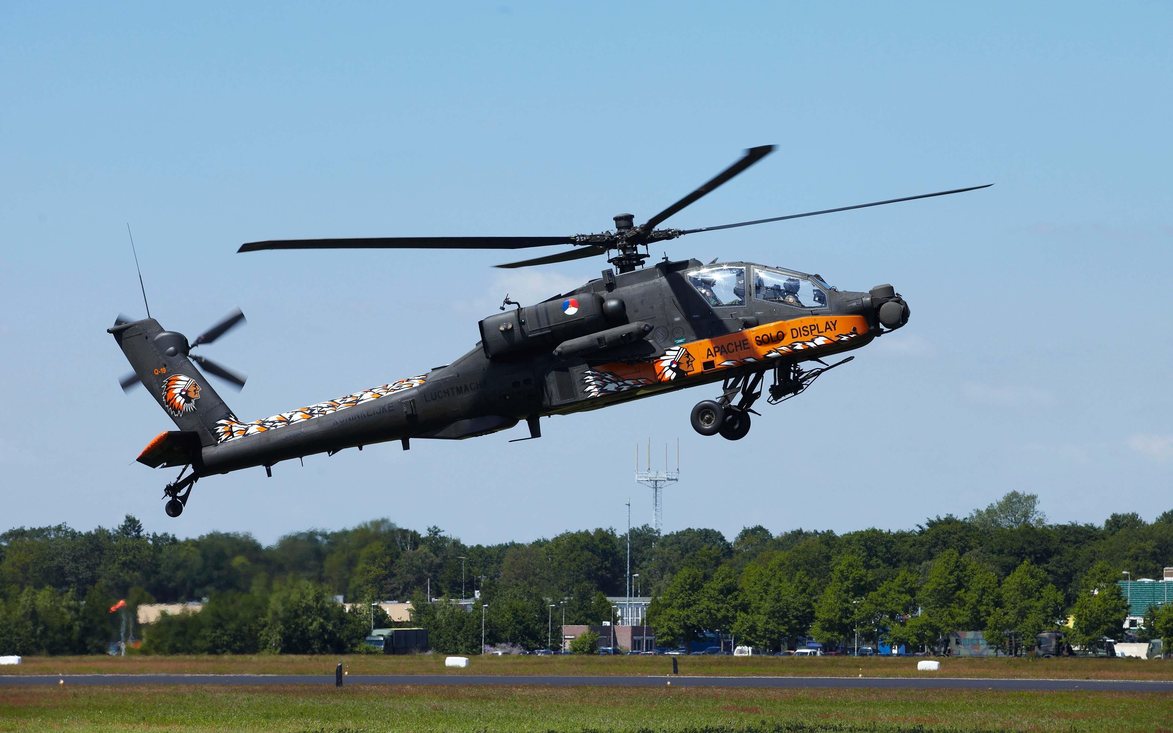 Military Helicopter 4k Hd Desktop Wallpaper For 4k Ultra: Apache AH-64 4k Ultra HD Wallpaper