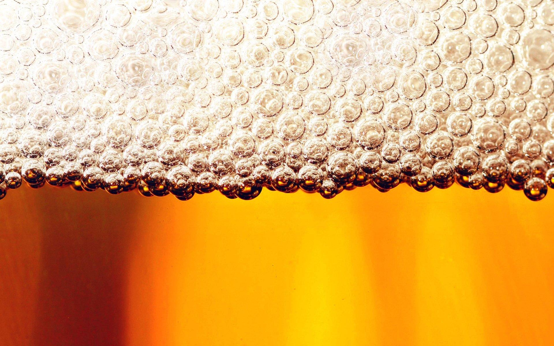 Food - Beer  Drink Macro Foam Wallpaper