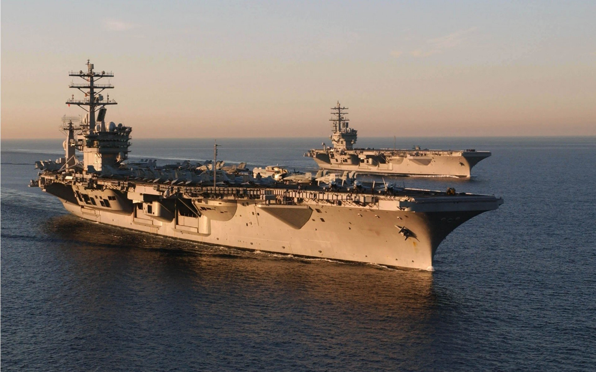 Military - USS Nimitz (CVN-68)  Aircraft Carrier Warship Wallpaper