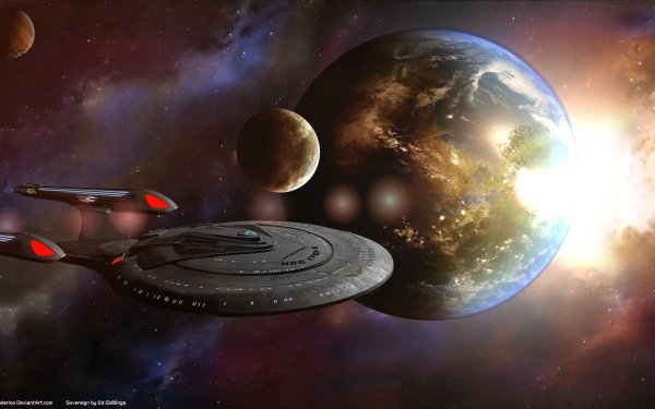 Sci Fi Star Trek Enterprise Space HD Wallpaper | Background Image