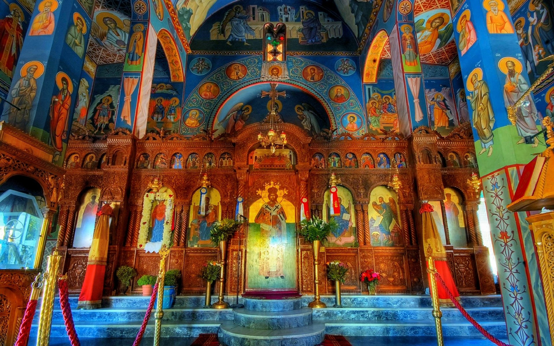 Religious - Cathedral  Colorful Architecture Church Wallpaper