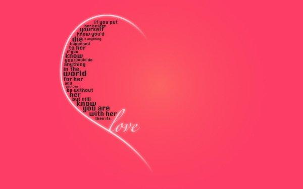 Artistic Love Pink Word Valentine's Day Statement HD Wallpaper | Background Image