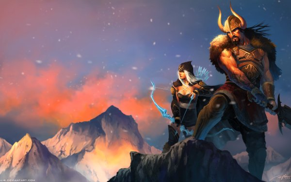 Video Game League Of Legends Ashe Tryndamere HD Wallpaper | Background Image