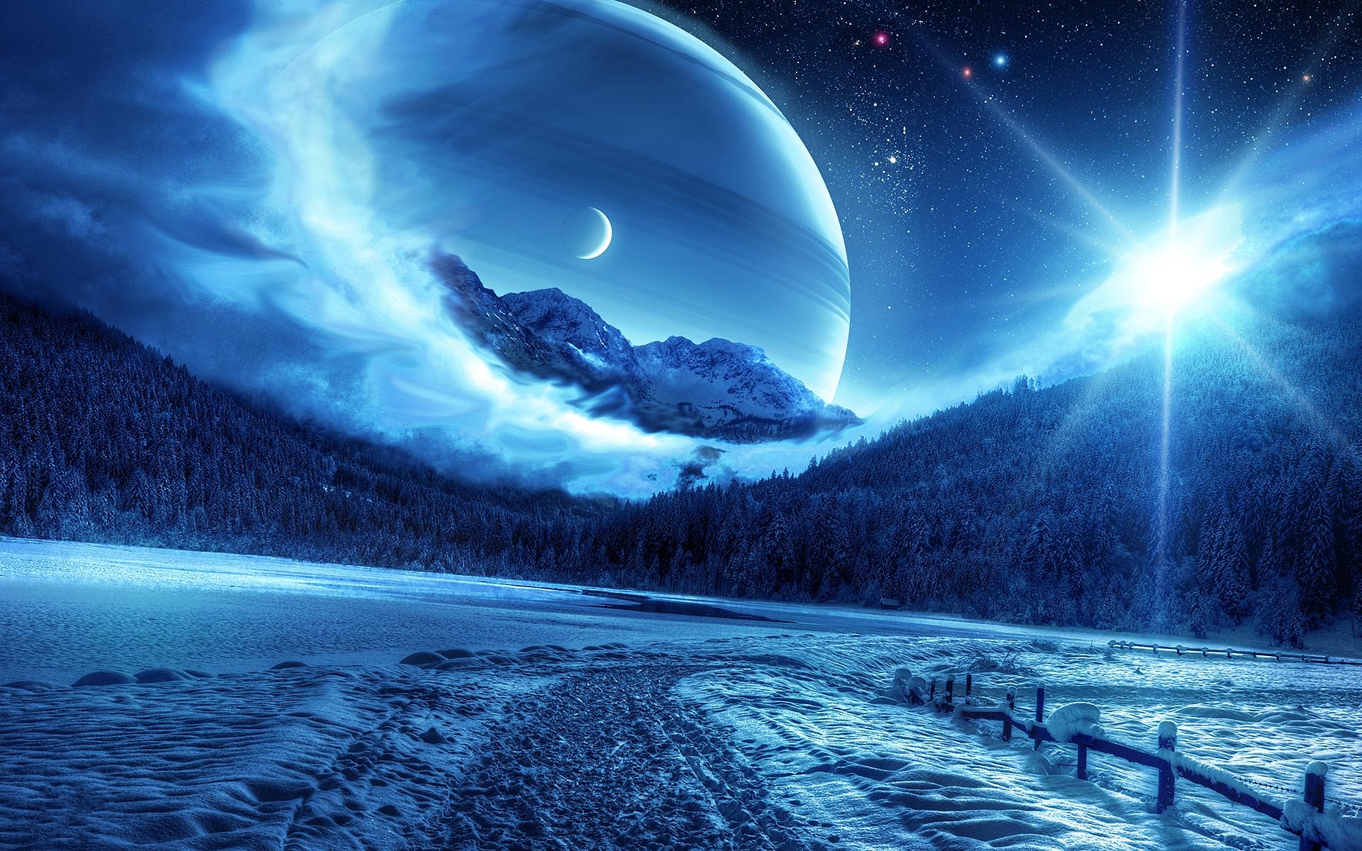 Sci Fi Planet Rise Wallpaper