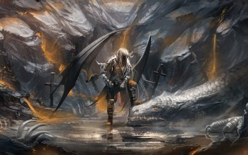 Fantasy - Angel Warrior Wallpapers and Backgrounds ID : 343755