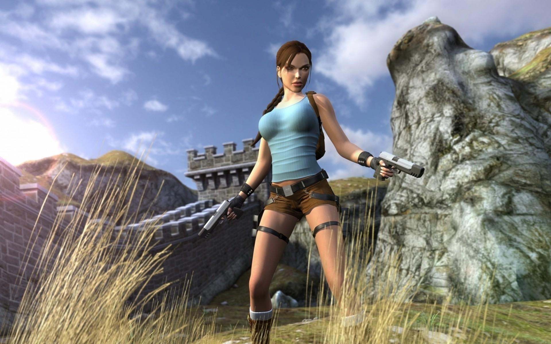 3d game girl lara croft tomb raider  adult photo