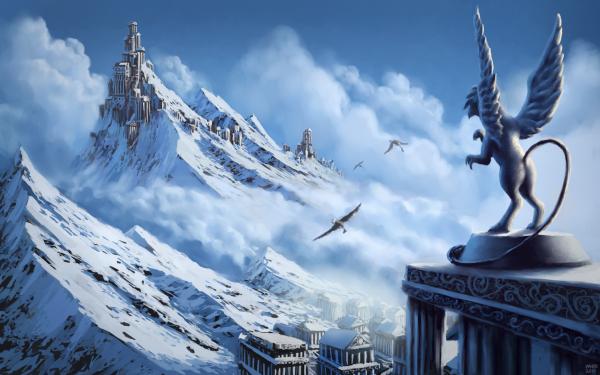 Fantaisie Griffon Animaux Fantastique Fond d'écran HD | Arrière-Plan