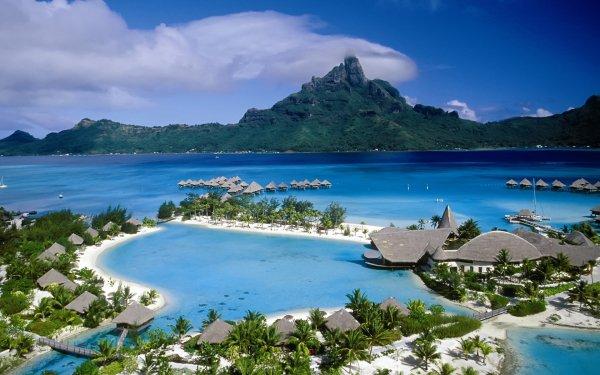 Photography Holiday Lagoon Sea Village HD Wallpaper | Background Image