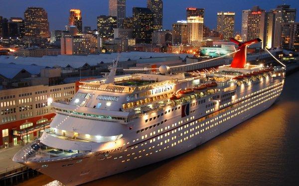 Vehicles Cruise Ship Cruise Ships Carnival Fantasy HD Wallpaper | Background Image