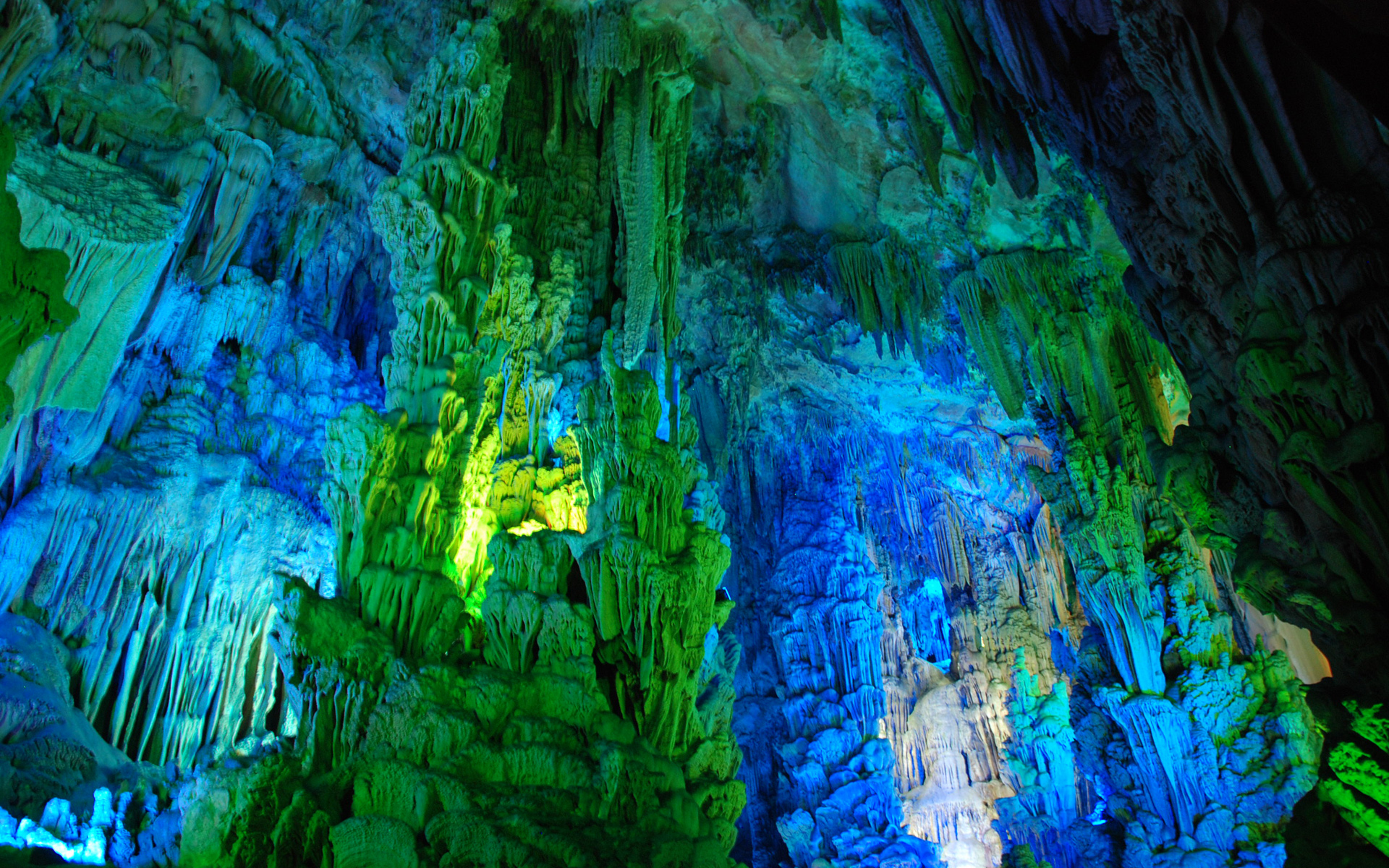 Earth Reed Flute Cave Wallpaper