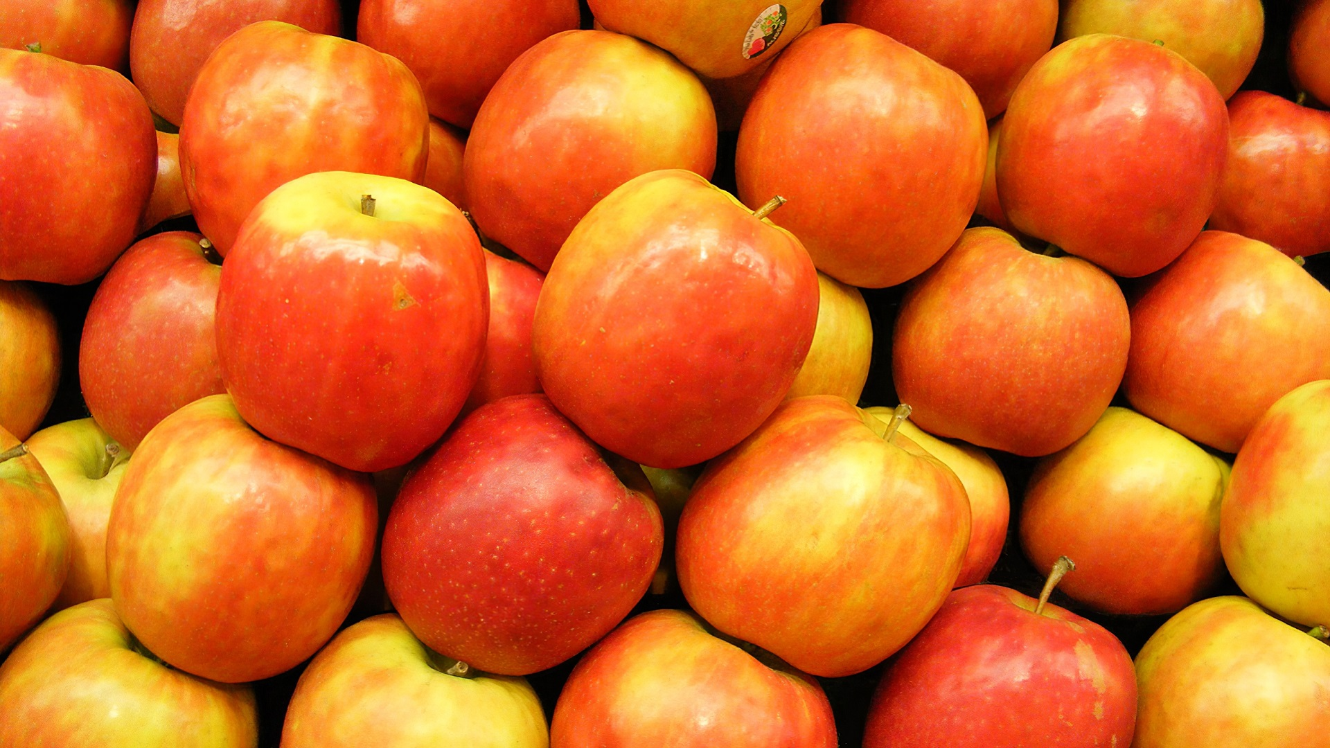 Sweet red apples wallpaper and background image 1366x768 - Red apple wallpaper ...