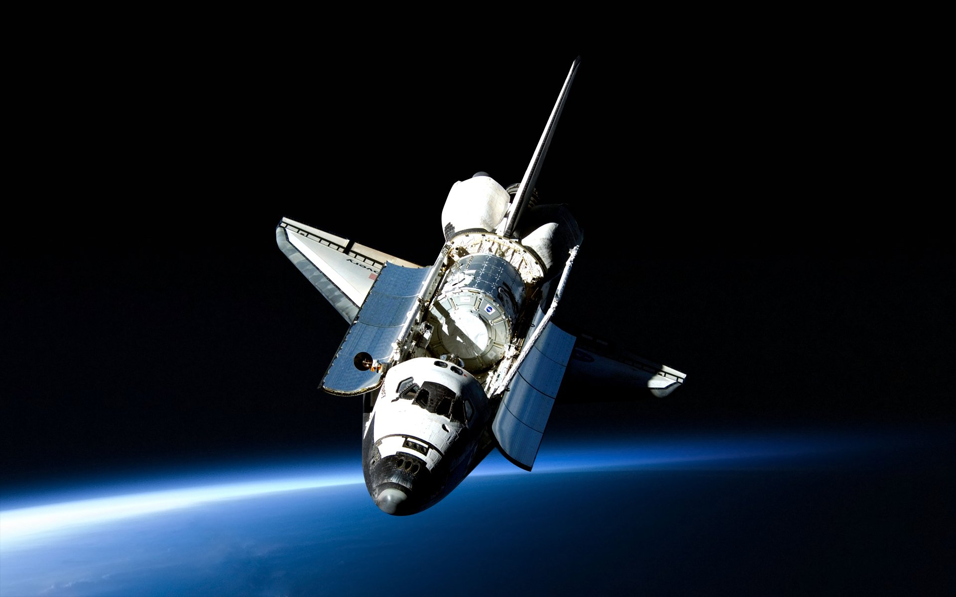 Vehicles - Space Shuttle Discovery  Space Shuttle Satellite Space Wallpaper