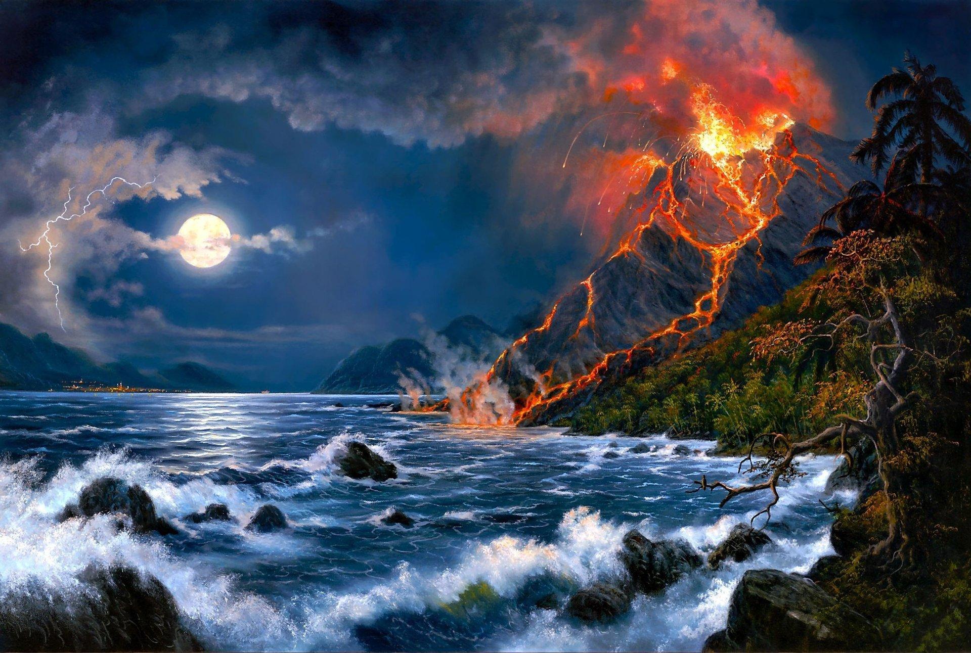 Terre/Nature - Volcan  Fond d'écran