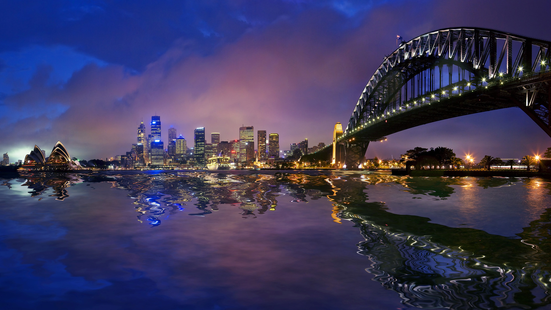 Sydney Harbour Bridge Hd Wallpaper Background Image 1920x1080