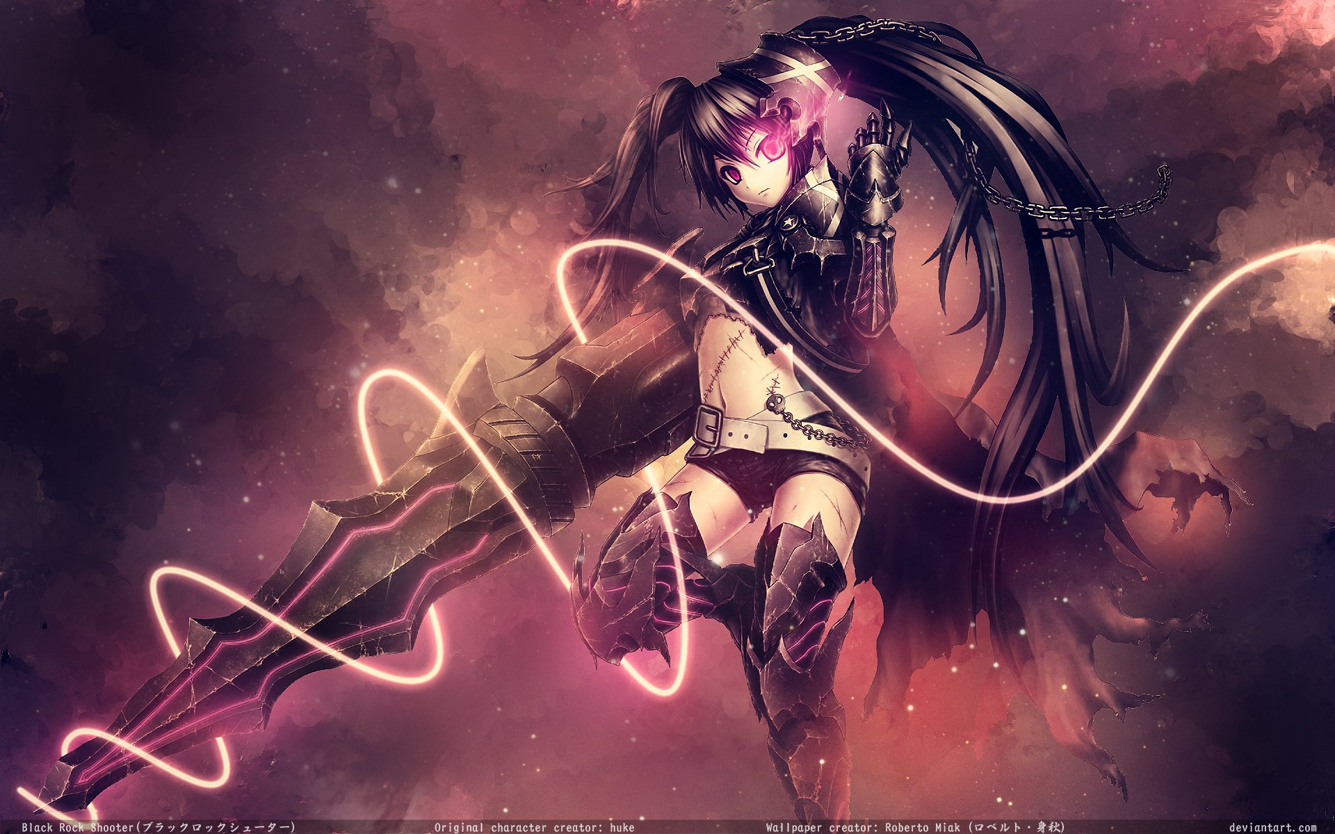 Insane Black Rock Shooter Full HD Wallpaper And Background Image