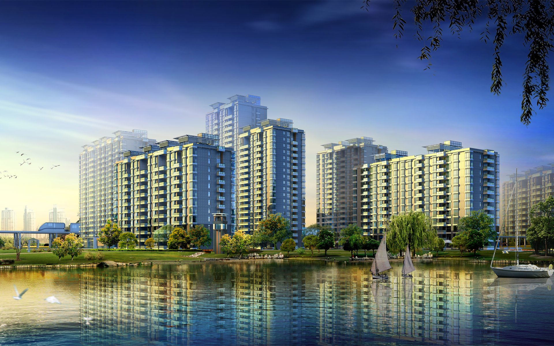 Apartment Complex HD Wallpaper | Background Image ...