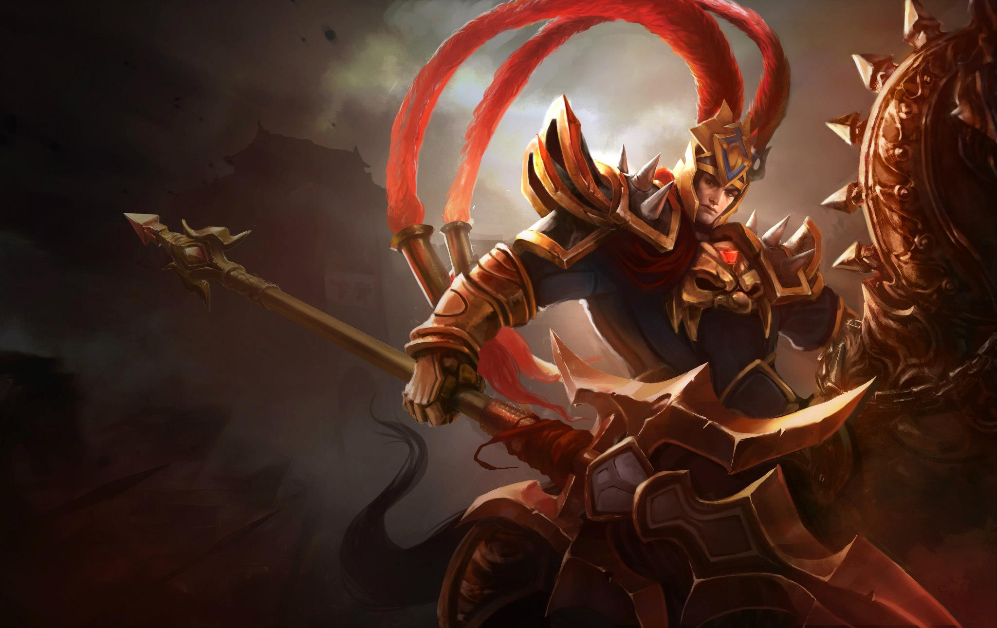 Video game league of legends warrior jarvan iv league of