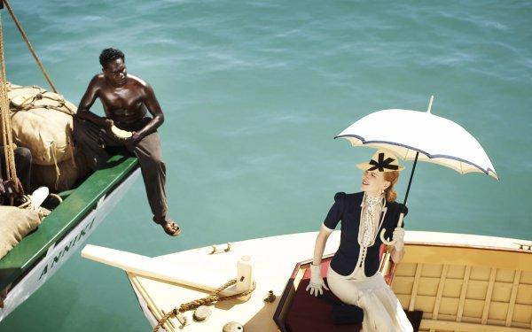 Movie Australia Nicole Kidman Boat Umbrella Lady Sarah Ashley Aboriginal HD Wallpaper | Background Image