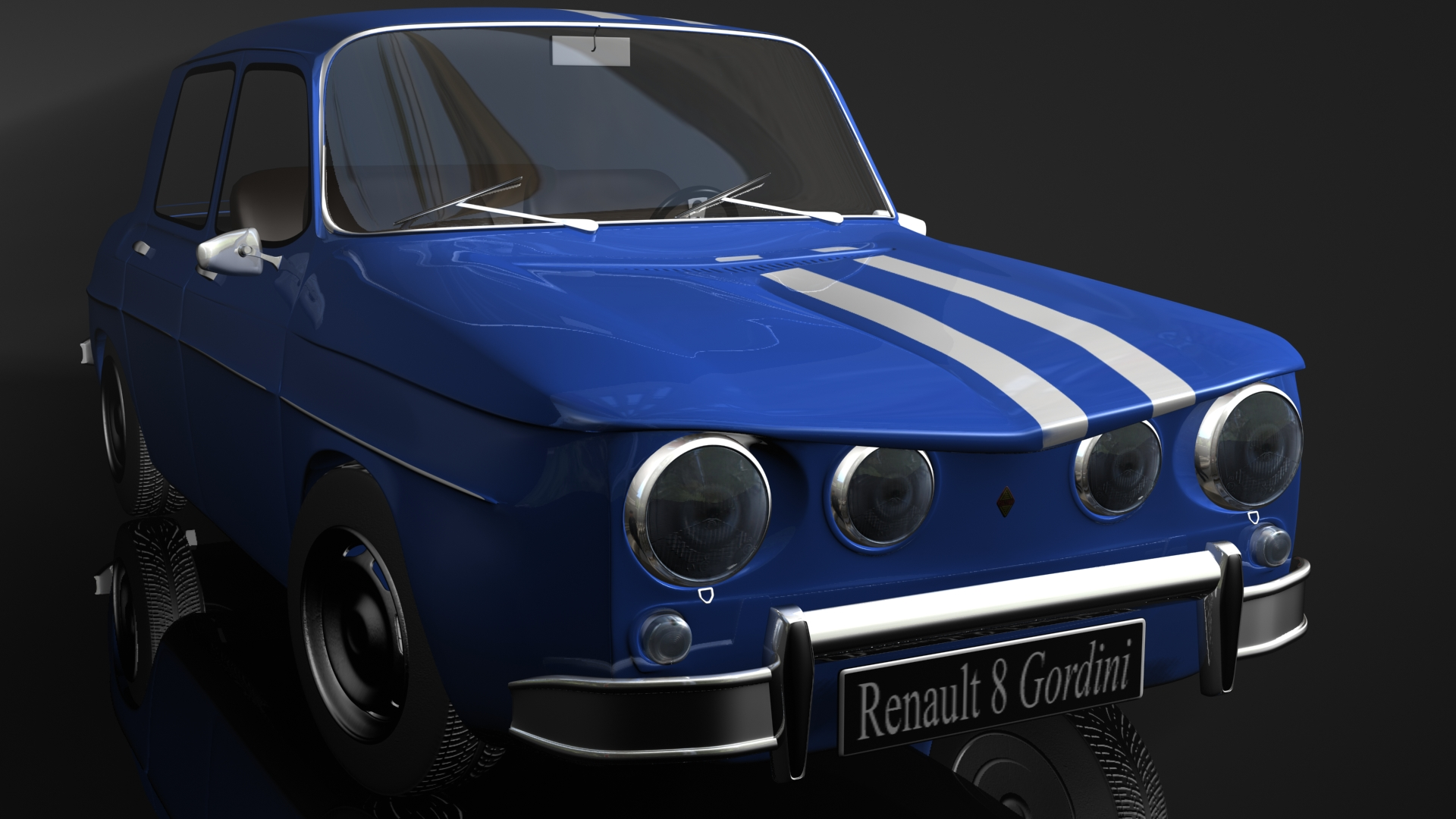 Renault 8 gordini 3d full hd fond d 39 cran and arri re plan for Image de ecran