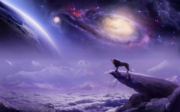 Fantaisie Lion Animaux Fantastique Fond d'écran HD | Arrière-Plan