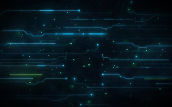 Abstract Green High Tech Circuit HD Wallpaper | Background Image