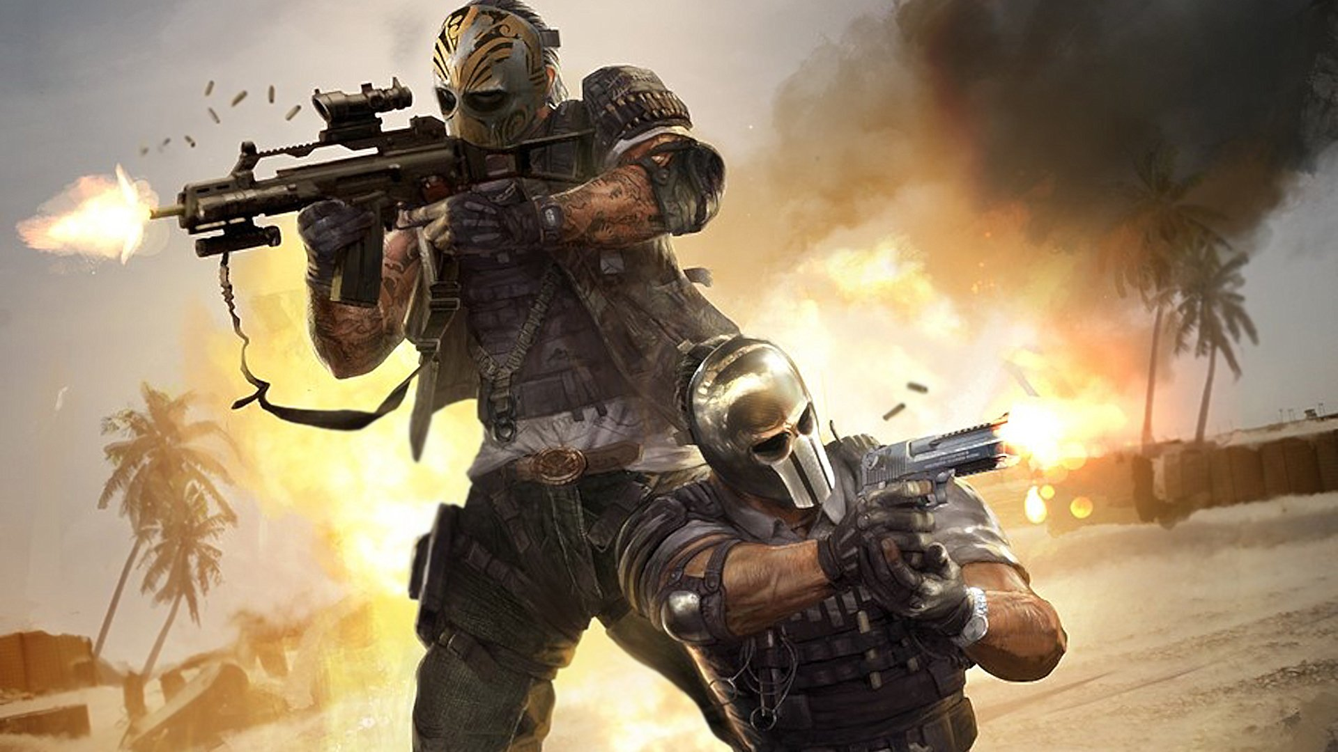 Army of two the devil 39 s cartel full hd wallpaper and - Army wallpaper hd 1080p ...