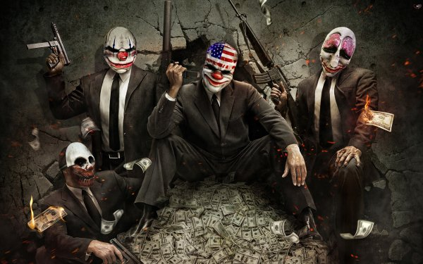 Video Game Payday: The Heist Payday Clown HD Wallpaper | Background Image