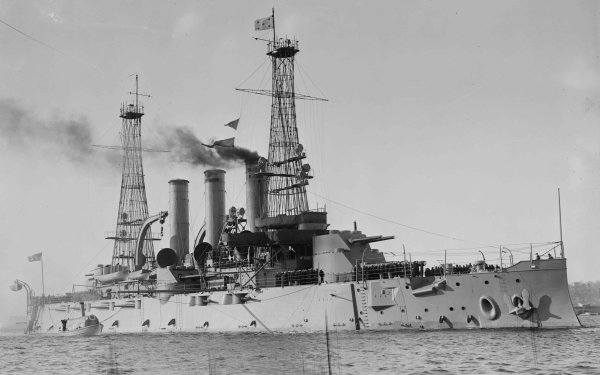Military United States Navy Warships Battleship USS Kansas HD Wallpaper   Background Image