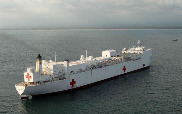 Military USNS Comfort (T-AH-20) Warships United States Navy Hospital Ship Warship HD Wallpaper   Background Image