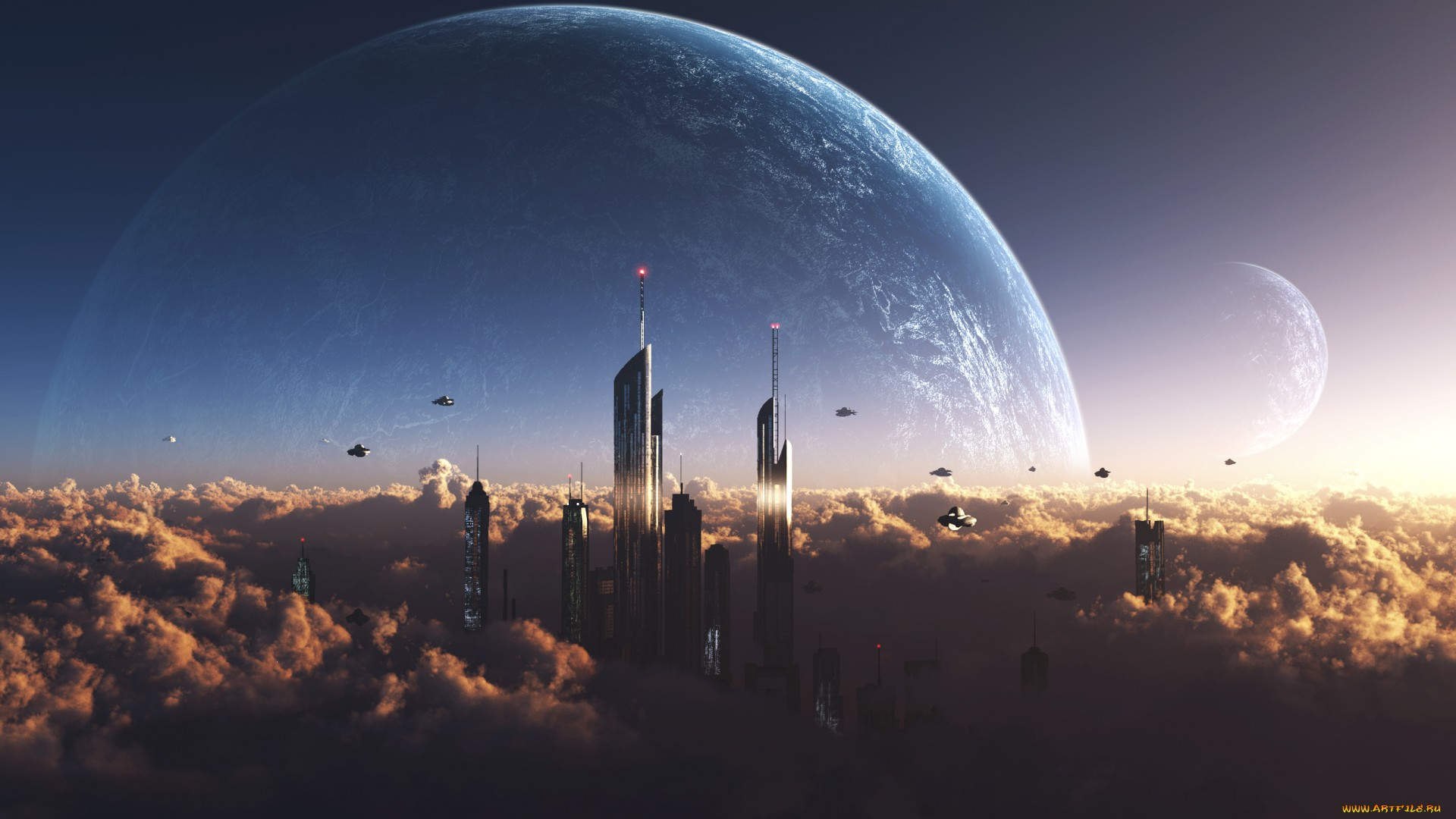 sci fi cities on other planets - photo #39