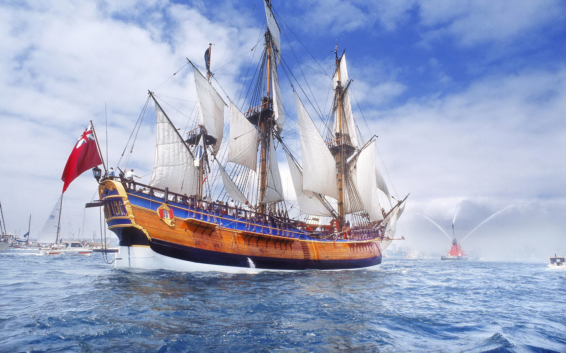 Sailing Ship Full HD Wallpaper and Background | 1920x1200 ...