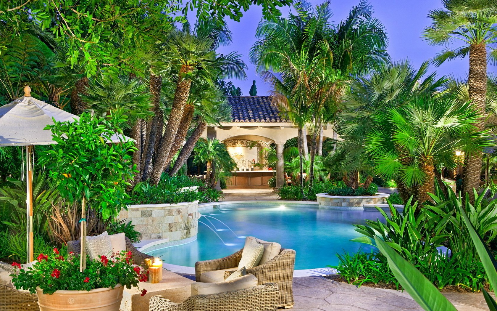 Piscine fond d 39 cran and arri re plan 1680x1050 id 385778 - Jardines con piscinas fotos ...