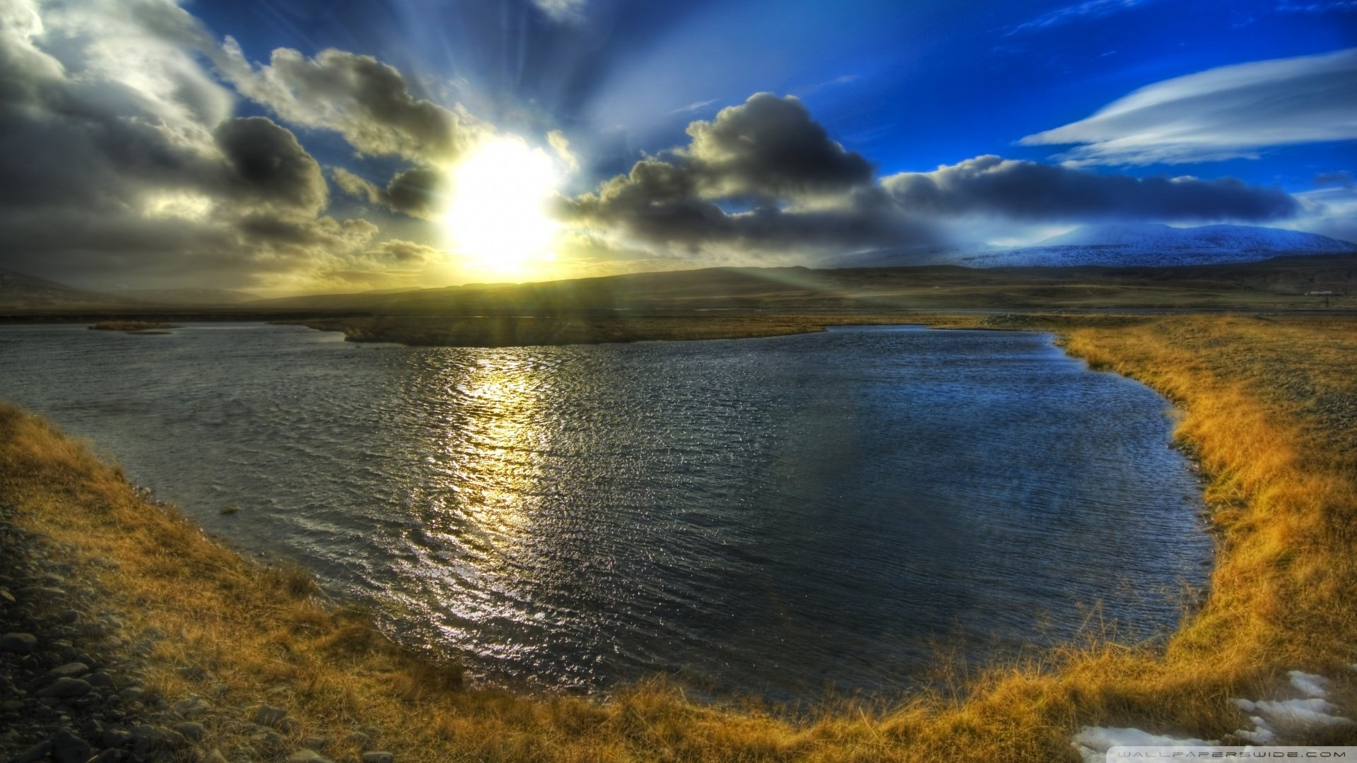 Photography - HDR  Cloud Sky Lake Water Sunbeam Landscape Nature Photography Wallpaper