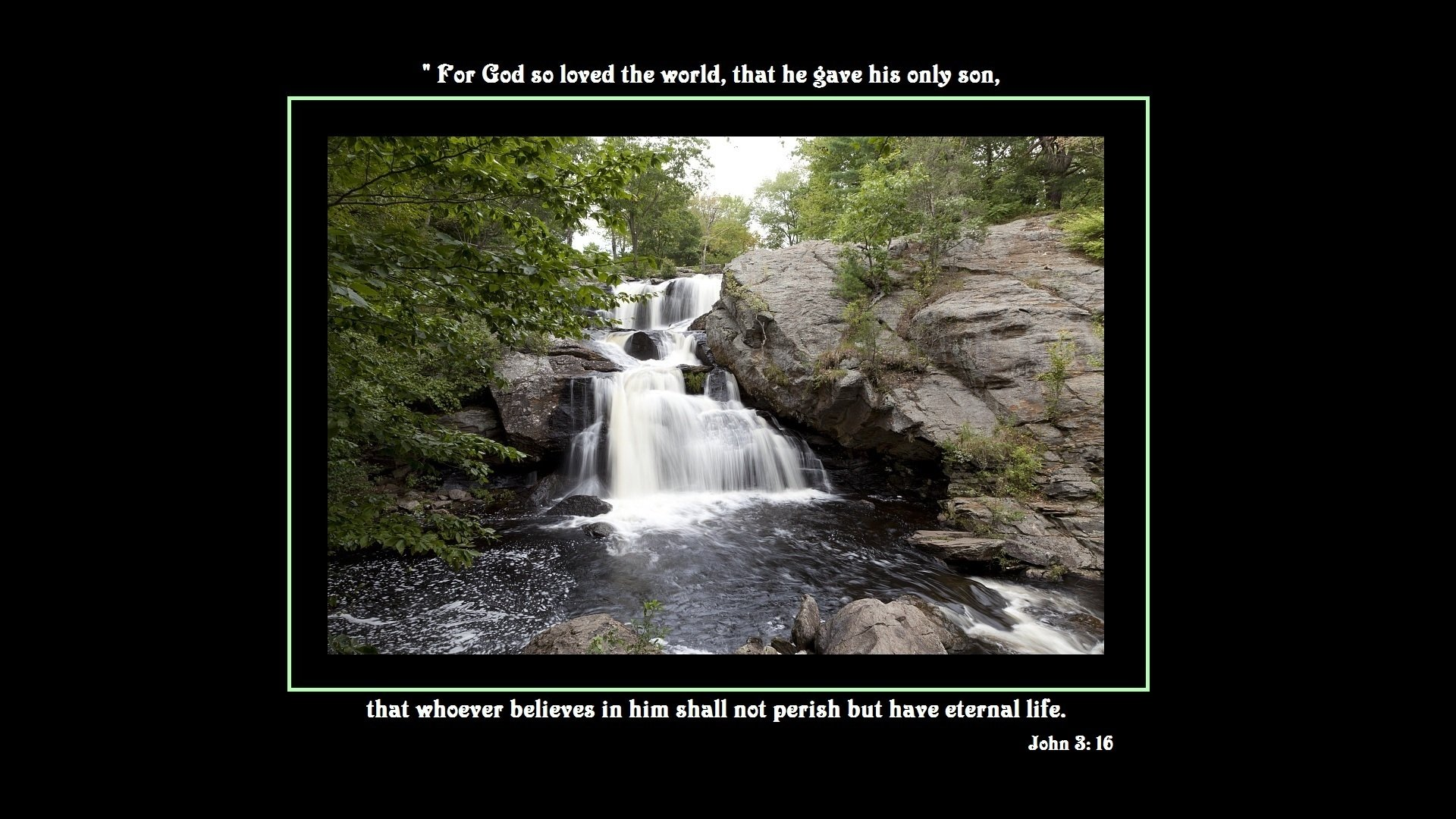 Religious - Bible Quote  Religious Bible Quote Word Religion God Life Christian Waterfall Wallpaper