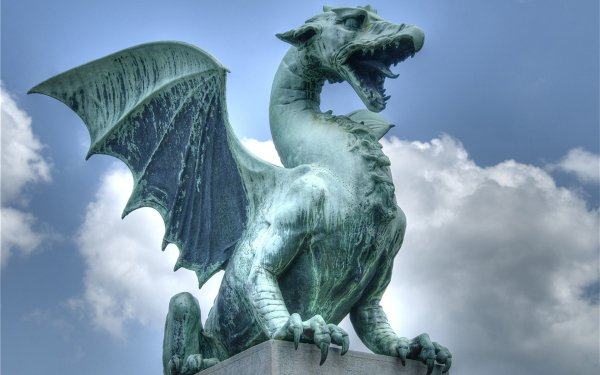 Man Made Statue Dragon HD Wallpaper   Background Image
