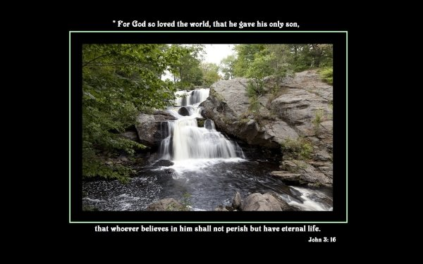 Religious Quote Bible Word Religion God Life Christian Waterfall HD Wallpaper | Background Image