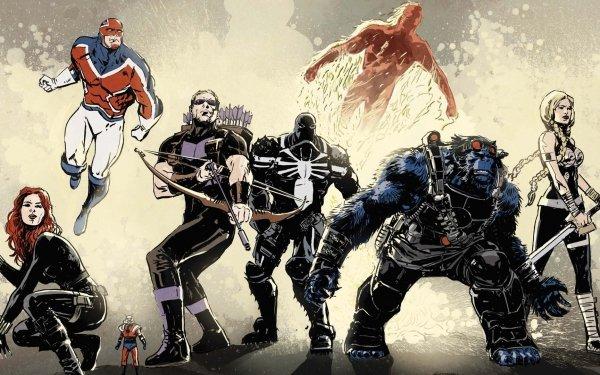 Comics Secret Avengers Black Widow Hawkeye Human Torch Beast Clint Barton Agent Venom Ant-Man Captain Britain HD Wallpaper | Background Image