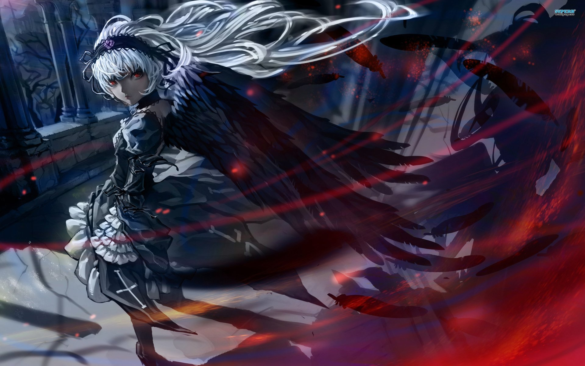 Anime - Rozen Maiden  Suigintou (Rozen Maiden) Wallpaper