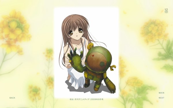 Anime Clannad Girl from the Illusionary World Junk Robot HD Wallpaper | Background Image