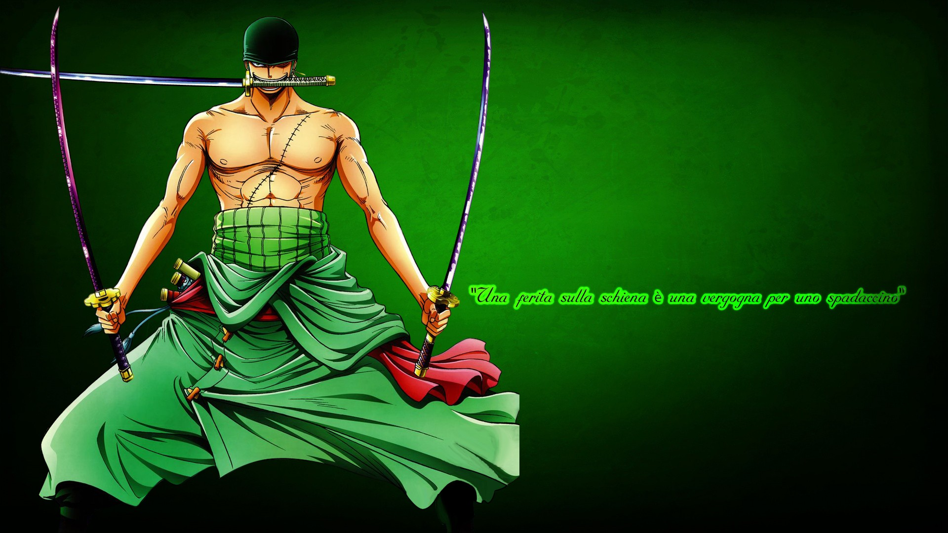 Roronoa Zoro Santōryu Hd Wallpaper Background Image 1920x1080
