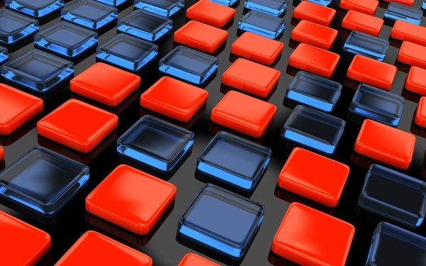 Abstract 3D Red Square CGI HD Wallpaper | Background Image