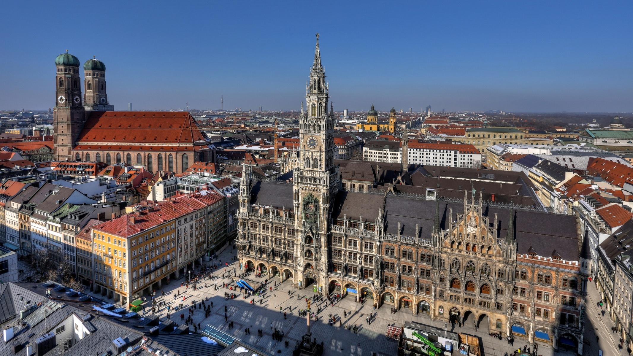 Обои мюнхен, здания, крыши, Munich, Germany, германия. Города foto 15