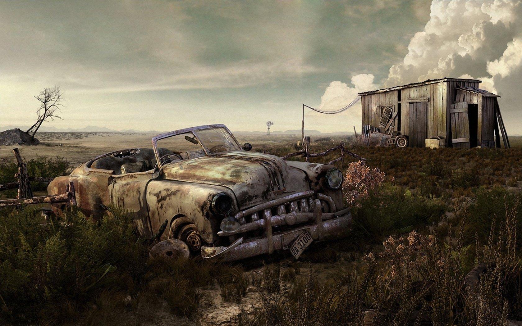 Vehicles - Wreck  Old Car Car Wallpaper
