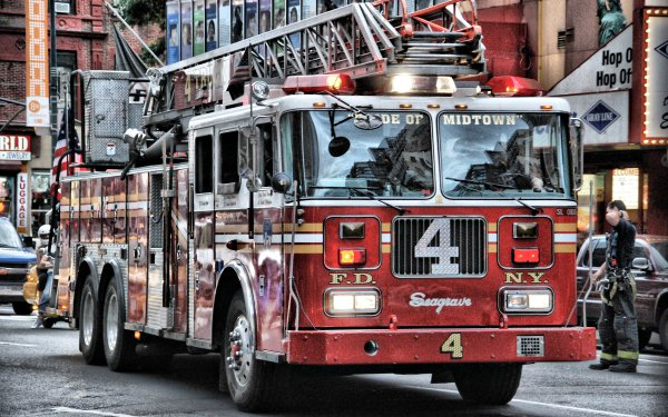 Vehicles Seagrave Fire Truck Truck Fire Truck Fire Engine Firefighter HDR HD Wallpaper   Background Image