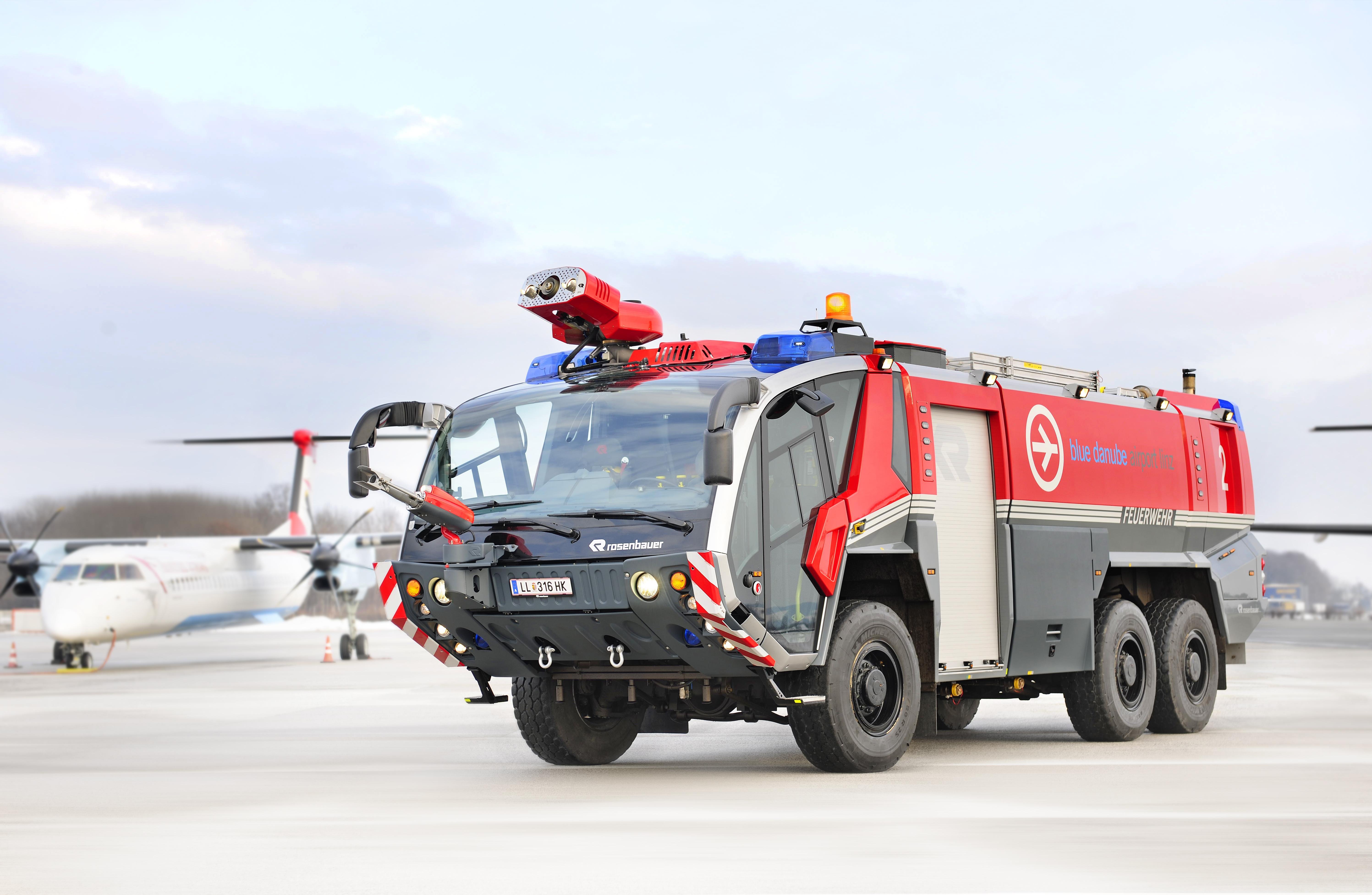 Rosenbauer Fire Truck 5k Retina Ultra HD Wallpaper