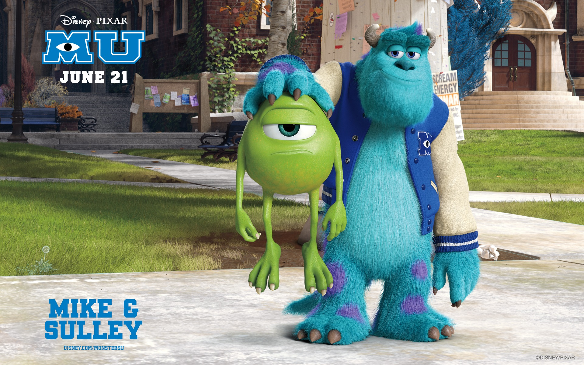 Monsters university full hd wallpaper and background image movie monsters university james p sullivan mike wazowski wallpaper voltagebd Image collections