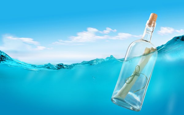 Man Made Bottle Message Water HD Wallpaper | Background Image