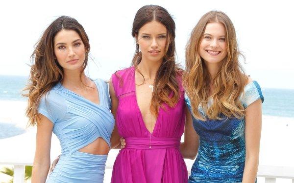 Women Model Models Lily Aldridge Adriana Lima Behati Prinsloo HD Wallpaper   Background Image