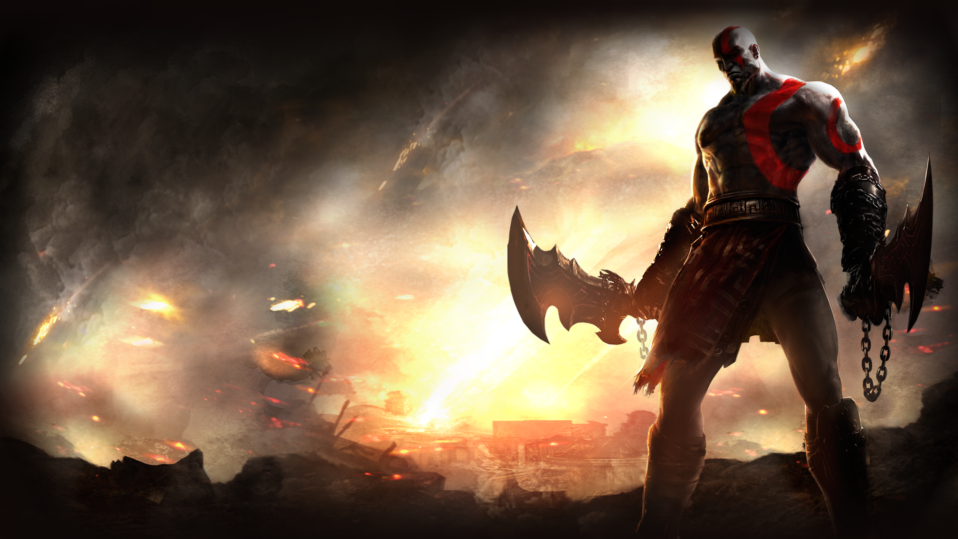 god of war kratos a· hd wallpaper background id413551